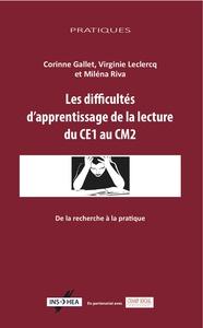 LES DIFFICULTES D'APPRENTISSAGE DE LA LECTURE DU CE2 AU CM1