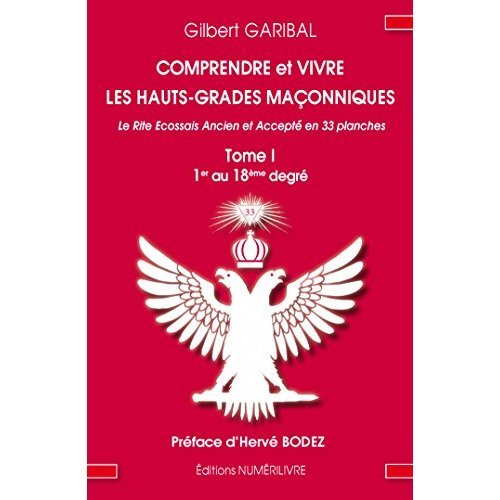 COMPRENDRE ET VIVRE LES HAUTS GRADES MACONNIQUES TOME 1