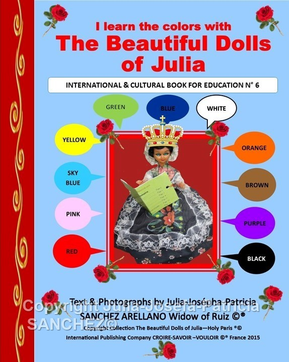 I LEARN THE COLORS WITH THE BEAUTIFUL DOLLS OF JULIA