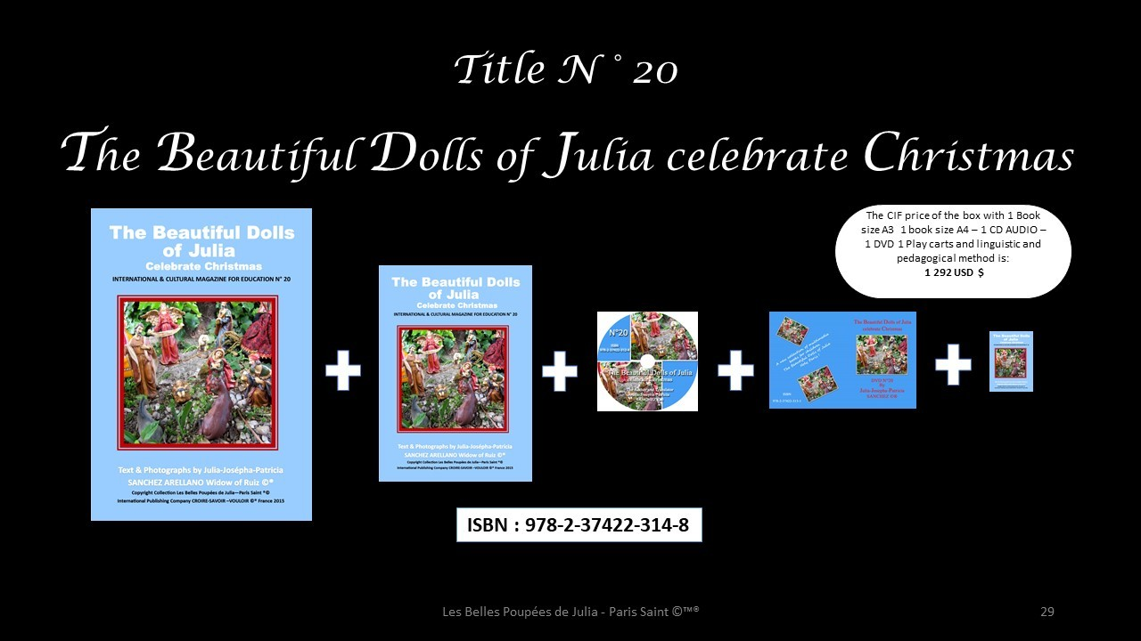 BOX N 20 THE BEAUTIFUL DOLLS OF JULIA CELEBRATE CHRISTMAS