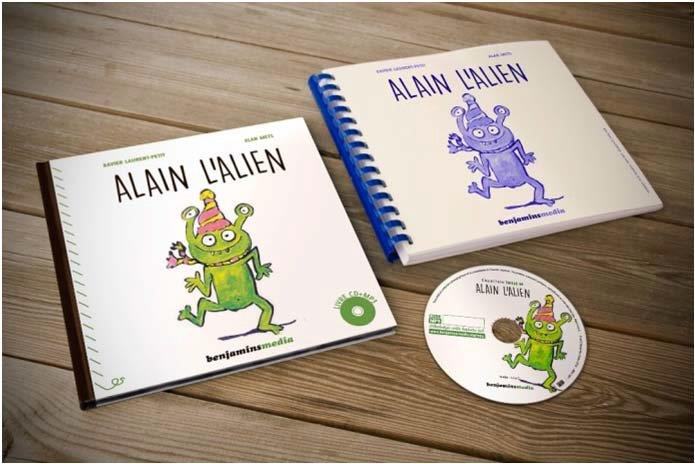 ALAIN L'ALIEN - LIVRE CD MP3/BRAILLE/GROS CARACTERES