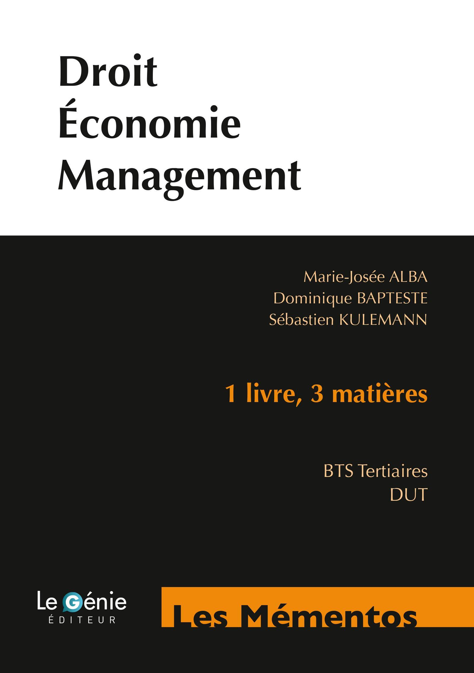 DROIT ECONOMIE MANAGEMENT