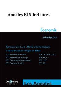 ANNALES BTS TERTIAIRES ECONOMIE