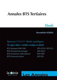 ANNALES BTS TERTIAIRES DROIT