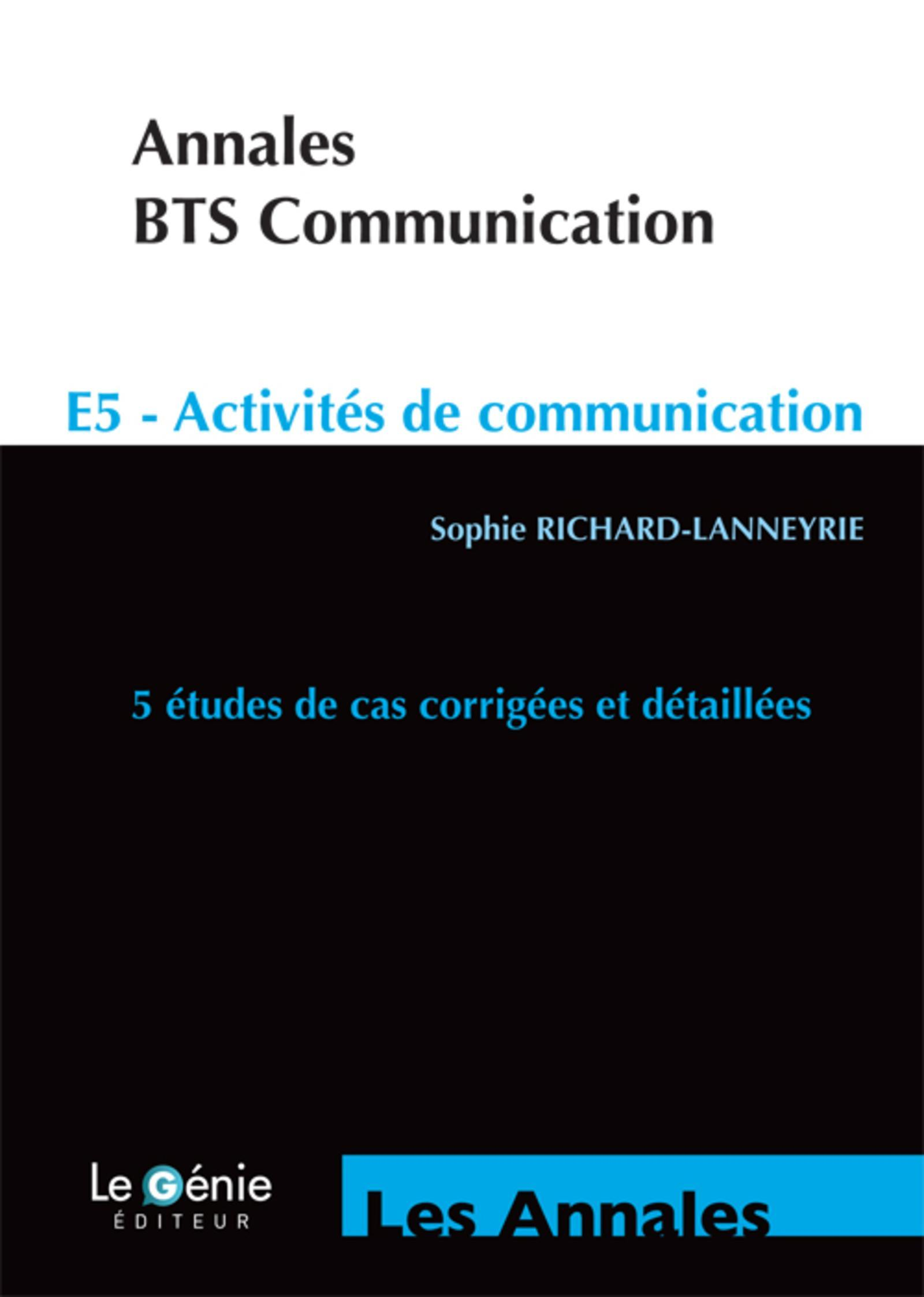 ANNALES BTS COMMUNICATION