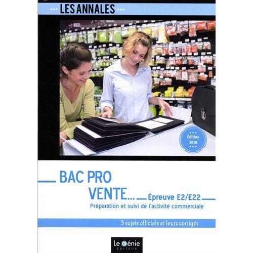 BAC PRO VENTE - EPREUVE E2/E22