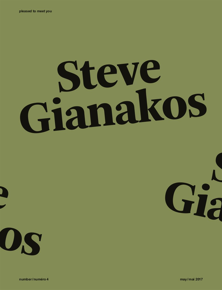 PLEASED TO MEET YOU : STEVE GIANAKOS