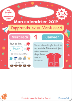 J'APPRENDS AVEC MONTESSORI MON CALENDRIER MEMONIAK 2019
