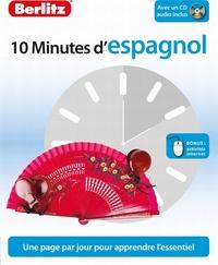 ESPAGNOL (D'), 10 MINUTES - NIVEAU DEBUTANT -1 LIVRE+ CD