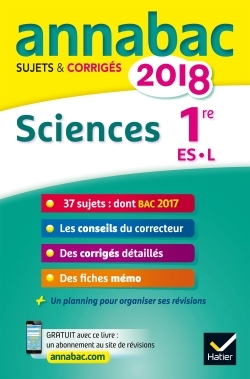 ANNALES ANNABAC 2018 SCIENCES 1RE ES, L