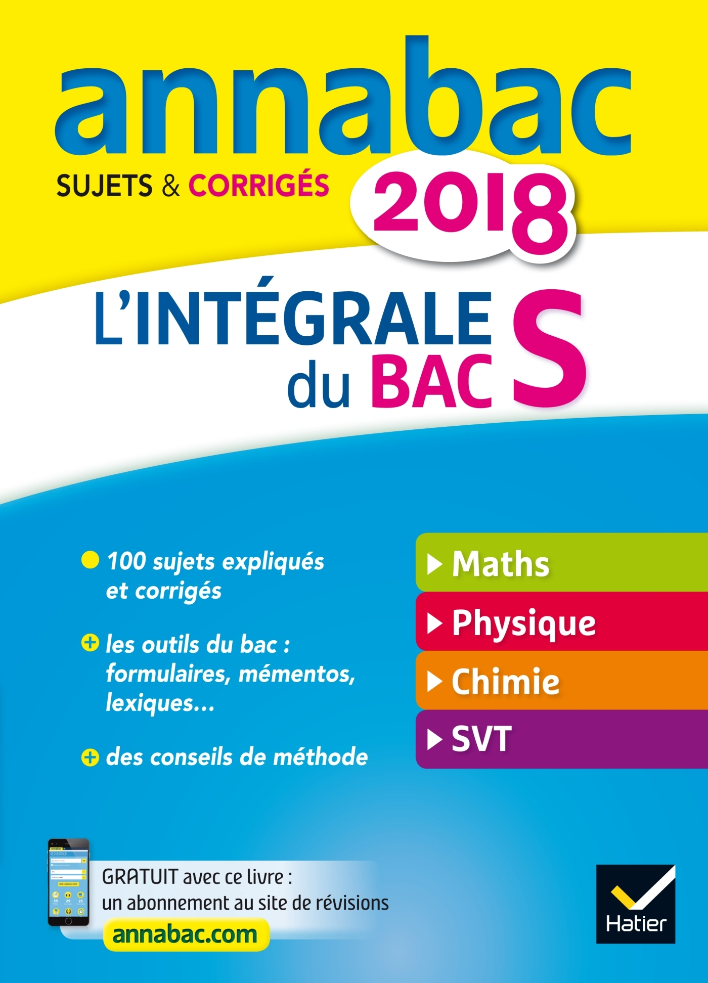ANNALES ANNABAC 2018 L'INTEGRALE BAC S
