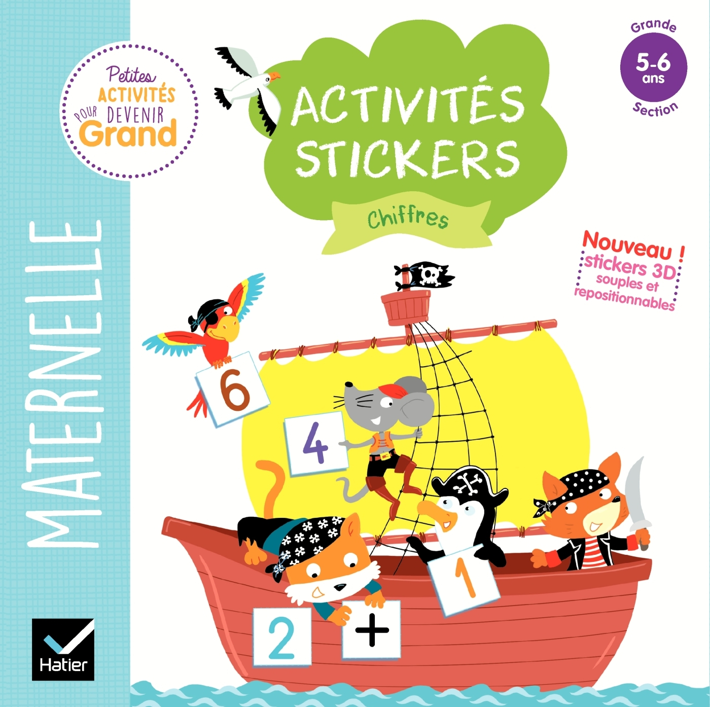 ACTIVITES STICKERS - CHIFFRES GRANDE SECTION