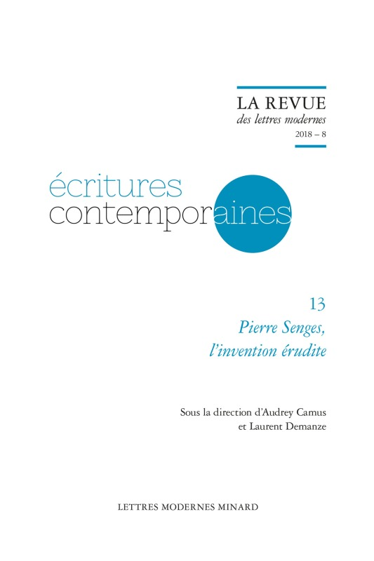 PIERRE SENGES, L'INVENTION ERUDITE 2018 - 8
