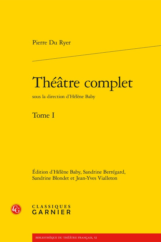 THEATRE COMPLET. TOME I