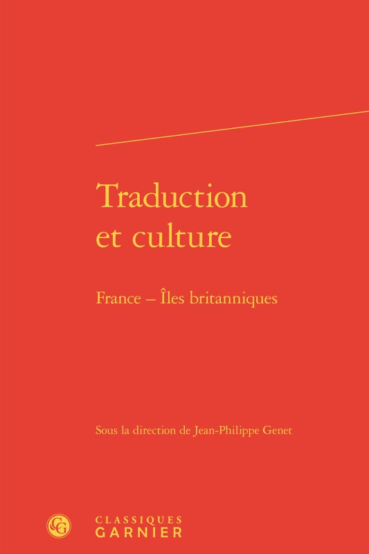 TRADUCTION ET CULTURE - FRANCE - ILES BRITANNIQUES