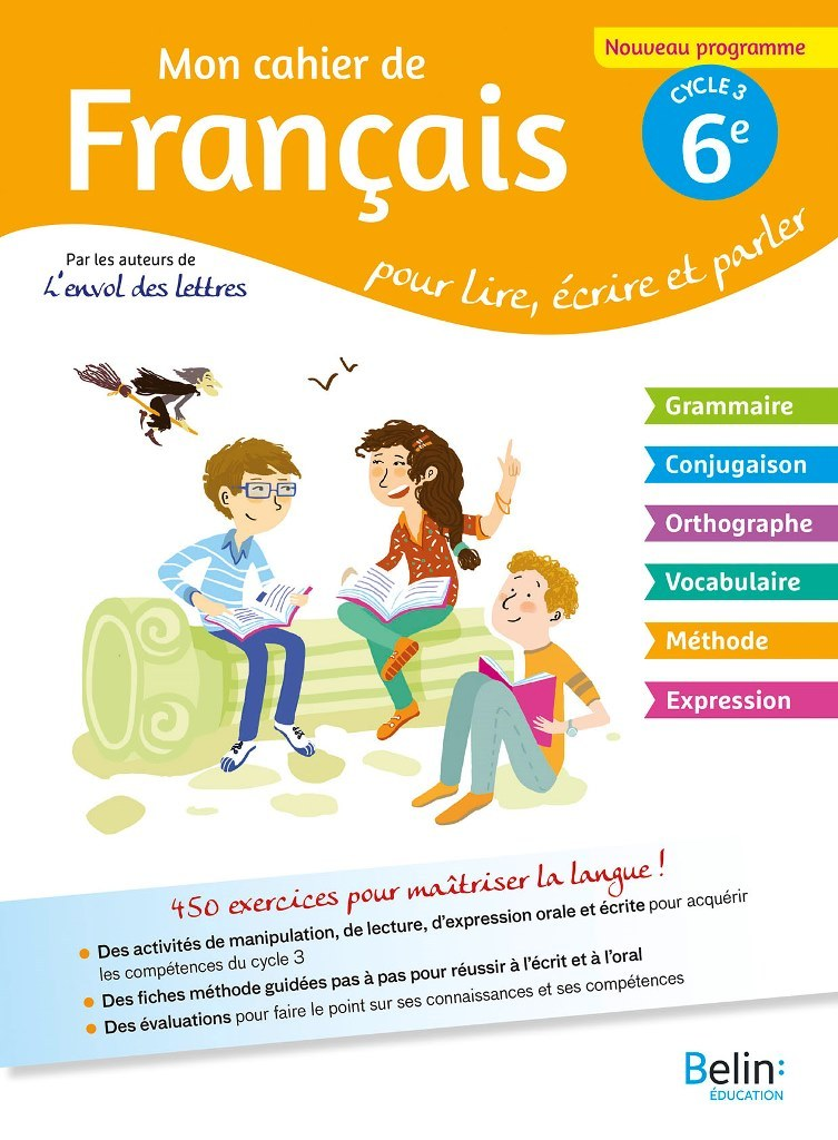 MON CAHIER DE FRANCAIS 6E