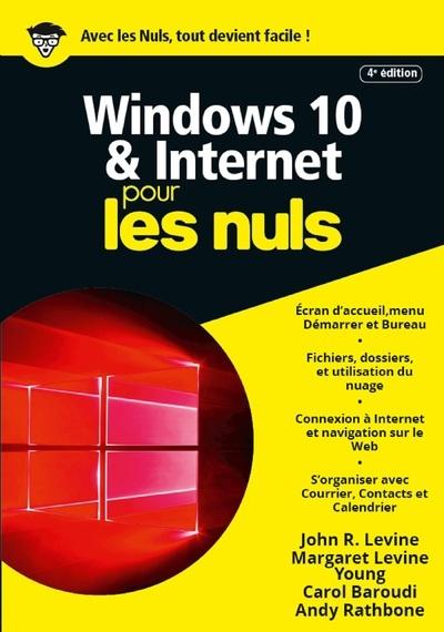 WINDOWS 10 ET INTERNET  4E MEGAPOCHE POUR LES NULS