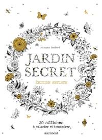 JARDIN SECRET - EDITION ARTISTE - 20 AFFICHES A COLORIER ET A ENCADRER