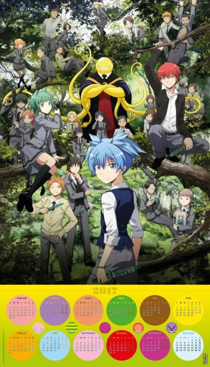 CALENDRIER ASSASSINATION CLASSROOM 2017