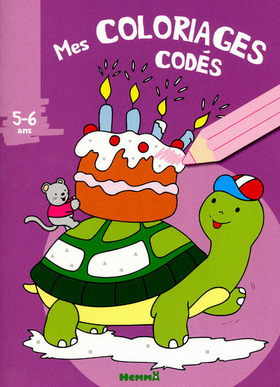 COLORIAGES CODES 5-6 ANS TORTU