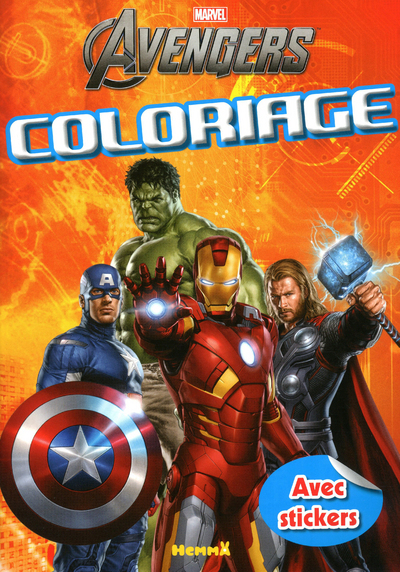 MARVEL - THE MIGHTY AVENGERS - COLORIAGE AVEC STICKERS