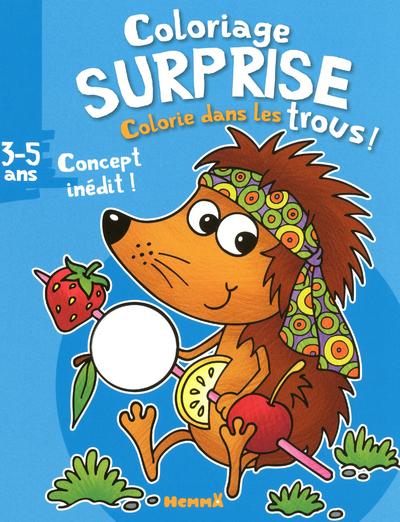 COLORIAGE SURPRISE - COLORIE DANS LES TROUS ! 3-5 ANS (HERISSON)
