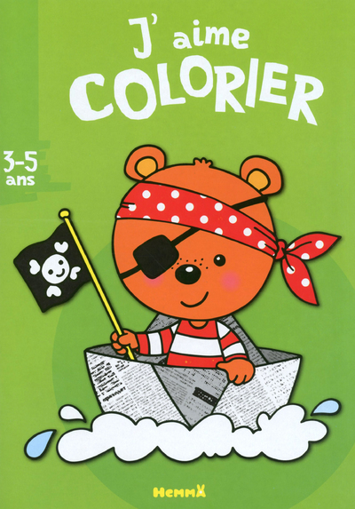 J'AIME COLORIER (3-5 ANS) (OURSON PIRATE)