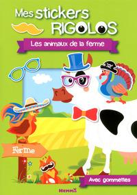 MES STICKERS RIGOLOS LES ANIMAUX DE LA FERME AVEC GOMMETTES