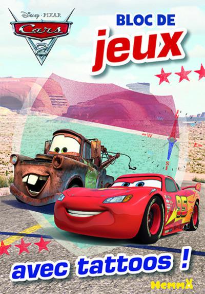 CARS 2 BLOC DE JEUX AVEC TATTOOS !