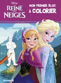 DISNEY LA REINE DES NEIGES MON PREMIER BLOC A COLORIER (ANNA ET ELSA)