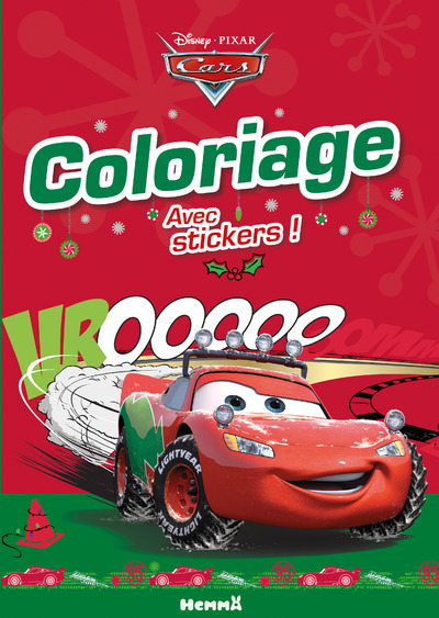 CARS COLORIAGE AVEC STICKERS (NOEL)