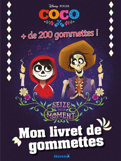 DISNEY COCO MON LIVRET DE GOMMETTES + 200 GOMMETTES !