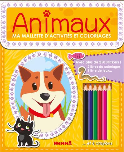 MA MALLETTE D'ACTIVITES ET COLORIAGES ANIMAUX