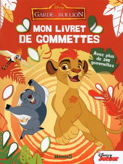 DISNEY LA GARDE DU ROI LION MON LIVRET DE GOMMETTES (FOND ROUGE)