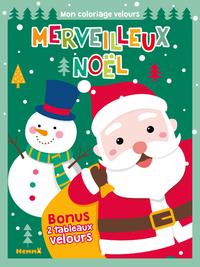 MERVEILLEUX NOEL MON COLORIAGE VELOURS (PERE NOEL)