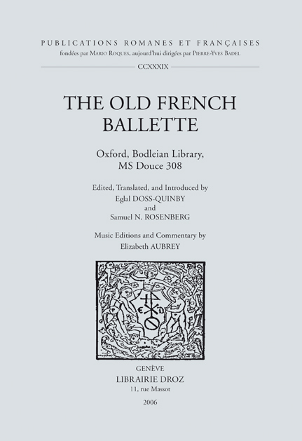 THE OLD FRENCH BALLETTE