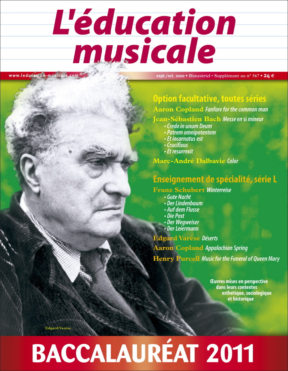 ED.MUSICALE SUPPLEMENT BAC 2011