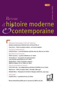 REVUE D HIST MODERNE CONTEMP N50/1 03