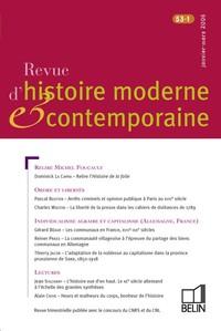REVUE D HIST MODERNE CONTEMP N53 1