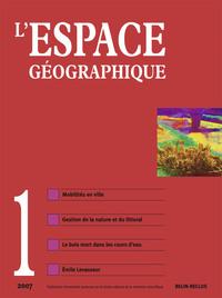 ESPACE GEOGRAPHIQUE N36 VOL 1/2007