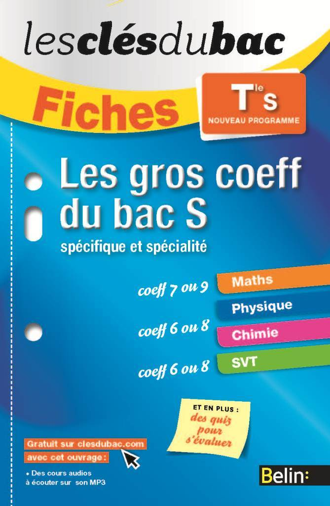 FICHES GROS COEFF BAC S