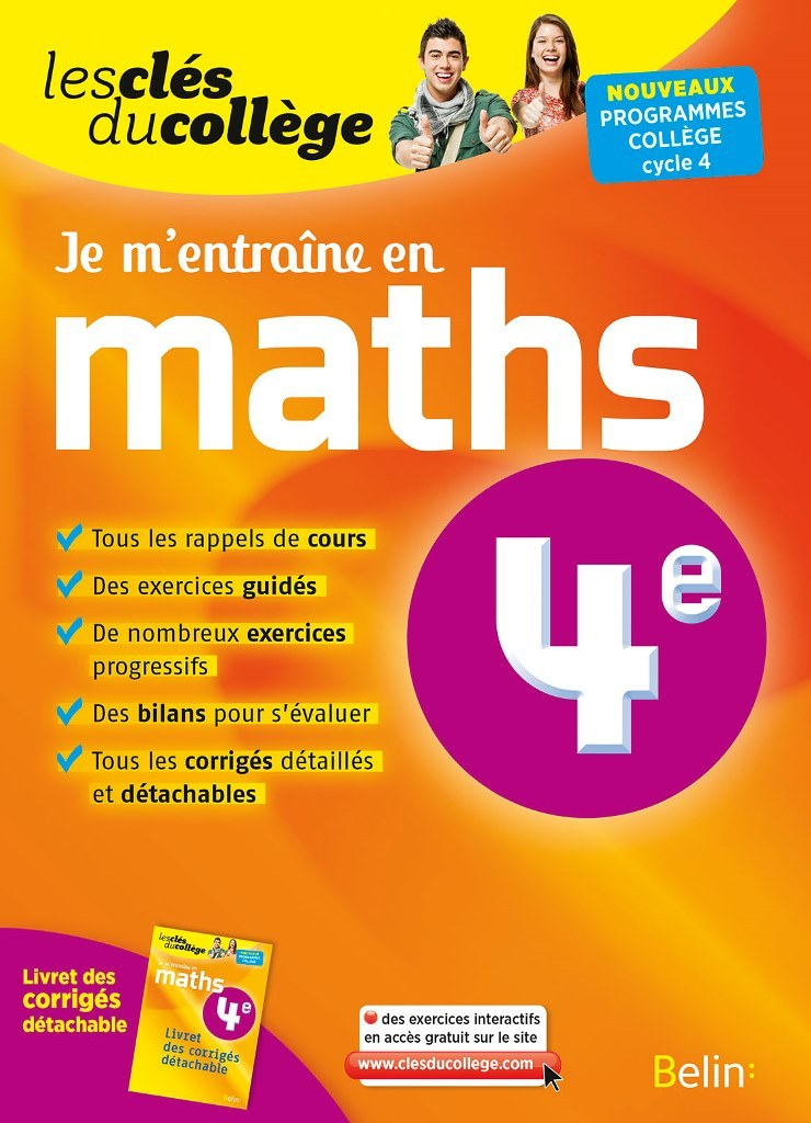 CLES DU COLLEGE MATHS 4E JE M'