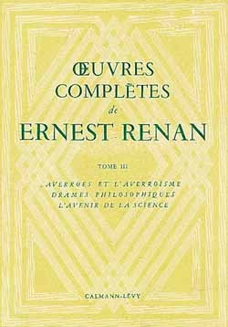 OEUVRES COMPLETES DE ERNEST RENAN -TOME III-