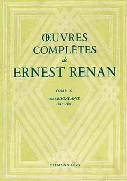 OEUVRES COMPLETES DE ERNEST RENAN - TOME X
