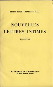 Nouvelles lettres intimes 1846-1850
