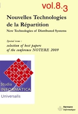 STUDIA INFORMATICA UNIVERSALIS, N  8-3. NEW TECHNOLOGIES OF DISTRIBUTED SYSTEMS