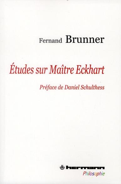 ETUDES SUR MAITRE ECKHART