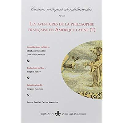 CAHIERS CRITIQUES DE PHILOSOPHIE N 18