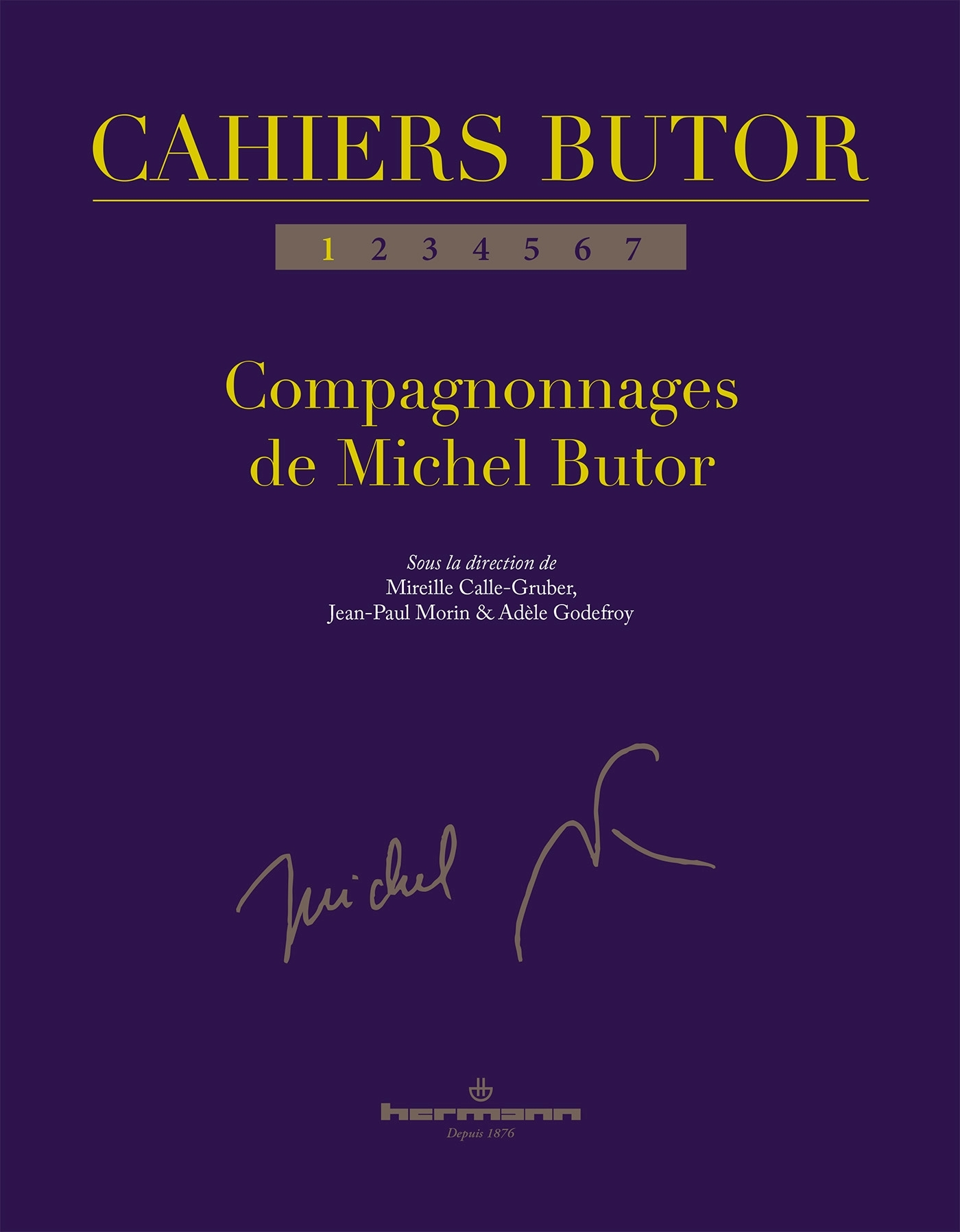 CAHIERS BUTOR N  1 - COMPAGNONNAGES