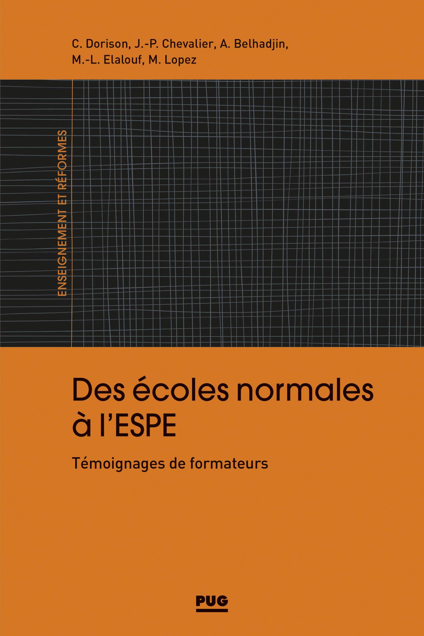 ECOLES NORMALES A L'ESPE (DES)